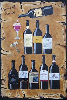 Wines Of Sicily Original by Randall Brewer