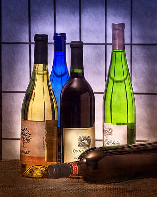 Colorful Photograph - Wines by Tom Mc Nemar