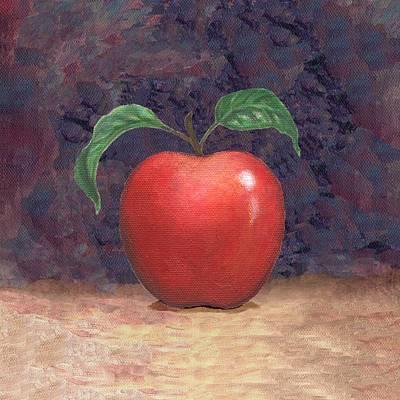 Pop Painting - Winesap Apple Two by Linda Mears