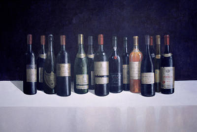 Wine-bottle Painting - Winescape by Lincoln Seligman