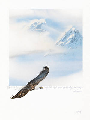 Isaiah Painting - Wings As Eagles by Cliff Hawley