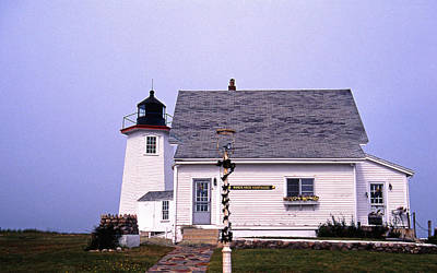 Wings Neck Lighthouse Print by Skip Willits