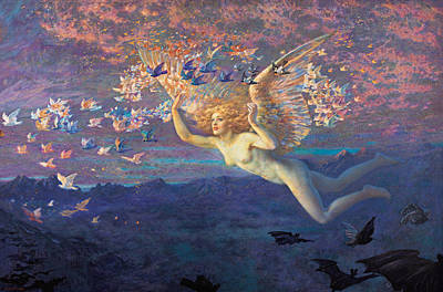Edward Robert Hughes Painting - Wings Of The Morning by Edward Robert Hughes