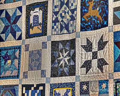 Homemade Quilts Photograph - Winning Quilt by Timothy Flanigan and Debbie Flanigan Nature Exposure