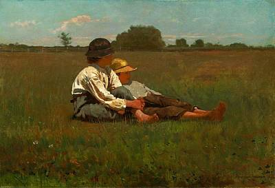 Winslow Homer Boys In A Pasture Print by Winslow Homer