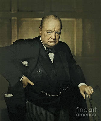 England Digital Art - Winston Churchill Prime Minister Of Uk by Celestial Images