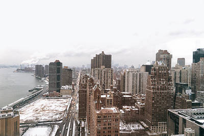 Winter Afternoon - Above New York City Print by Vivienne Gucwa