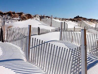 Winter At Cold Storage Beach Print by Dianne Cowen