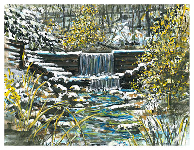 Winter At Iargo Springs Print by Robin  Pelton