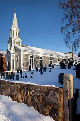 Winter At Saint Bernard Catholic Church Print by Brian Jannsen