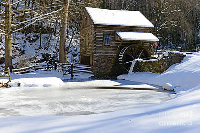 Mill In Woods Photograph - Winter At The Mill by Paul Ward
