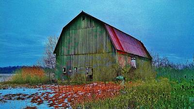 Barn Photograph - Winter Barn by Daniel Thompson