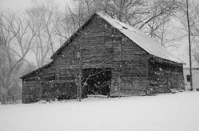 Winter Barn Original by Hans Castleberg