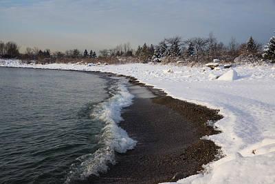 Winter Beach - Soft Snow On Lake Ontario Print by Georgia Mizuleva