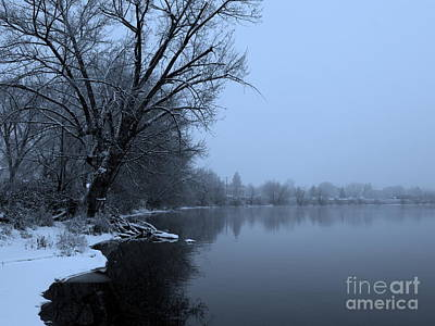 Winter Blues Print by Carol Groenen