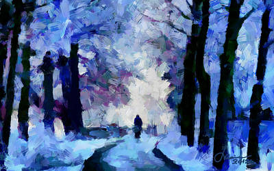 Winter Blues Tnm Print by Vincent DiNovici
