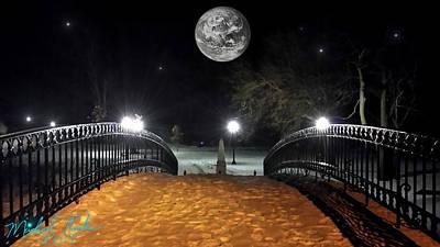 Winter Canal Bridge Original by Michael Rucker