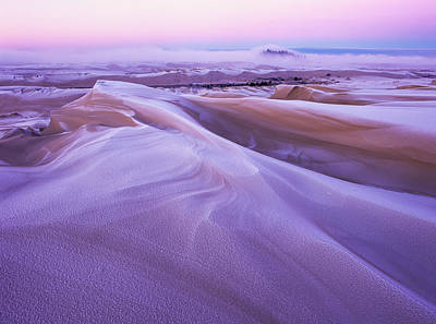 Oregon Dunes National Recreation Area Photograph - Winter Carves And Decorates The Umpqua by Robert L. Potts