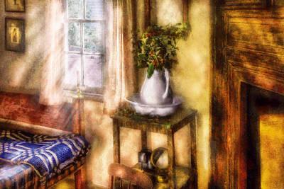 Suburban Digital Art - Winter - Christmas - Early Christmas Morning by Mike Savad