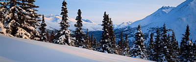 Winter Chugach Mountains Ak Print by Panoramic Images