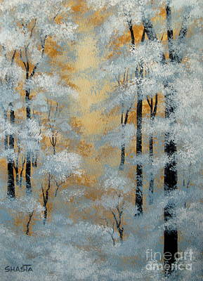 Disney Artist Painting - Winter  Contrasts  by Shasta Eone
