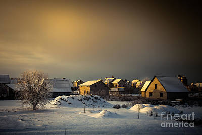 Photograph - Winter Country Landscape by Sviatlana Kandybovich