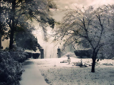 Snow Digital Art - Winter Courtyard by Jessica Jenney