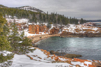 Winter Cove Print by Robert Saccomanno