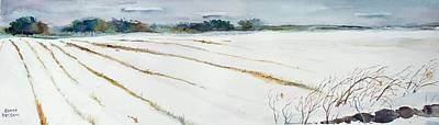 Scott Nelson And Son Painting - Winter Crop by Scott Nelson