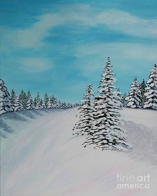 Painting - Winter Day In The Country by Barbara Griffin