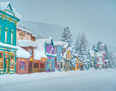 Business Cartoon Photograph - Winter Daybreak - Crested Butte by Dusty Demerson