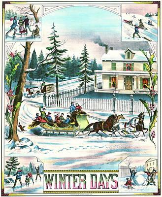 Winter Days 1881 Print by Padre Art