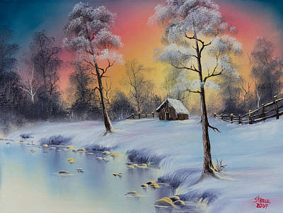 Bob Ross Painting - Winter's Grace by C Steele