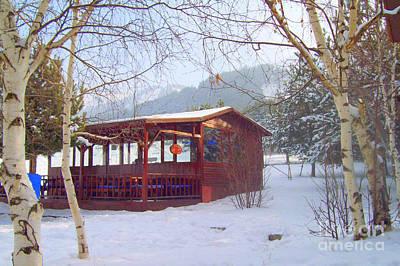 Ski Painting - Winter Erzurum Turkey by Lou Ann Bagnall