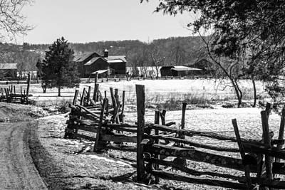 Winter Farm Print by Janet Hutton