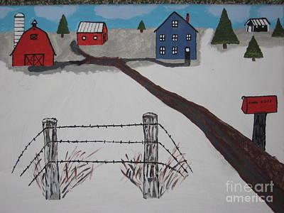 Winter Farm Original by Jeffrey Koss