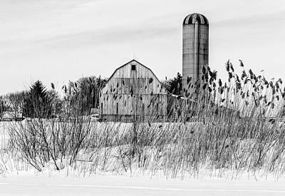 Winter Farm Scene Print by Garvin Hunter