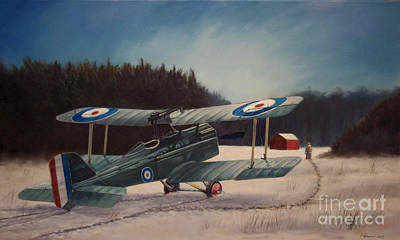 Aviator Painting - Winter Field by Stephen Roberson