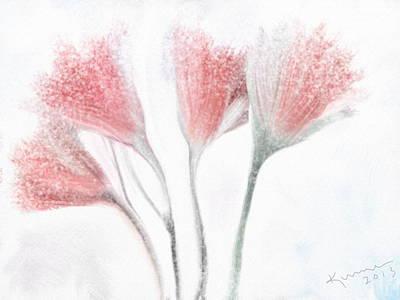 Ipad Design Digital Art - Winter Flowers by Kume Bryant