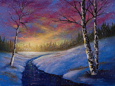 Winter Flurries Print by C Steele