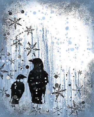 Winter Frolic 2 Print by Melissa Smith