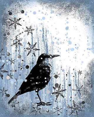 Winter Frolic Print by Melissa Smith