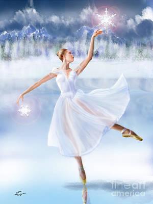 Ballet Painting - Winter Frost - Seasonal Winds Series 2 Of 4 by Reggie Duffie
