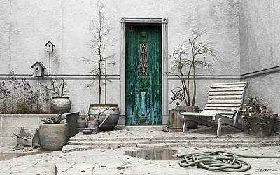 Kelly Digital Art - Winter Garden by Cynthia Decker