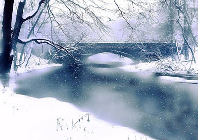 Winter-landscape Digital Art - Winter Haiku by Jessica Jenney