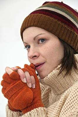 Winter Hat And Gloves Print by Science Photo Library