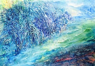 Winter Hawthorn Original by Trudi Doyle