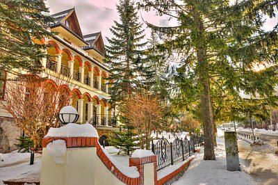 Snowbound Photograph - Winter Hotel by Pati Photography