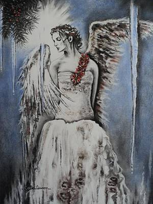 Winter Ice Angel Print by Carla Carson