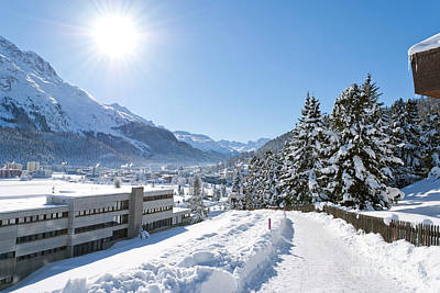 Winter In St. Moritz  Print by Design Windmill